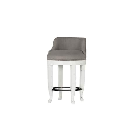 Emerald Home Bordeaux Antique White French Country Stool