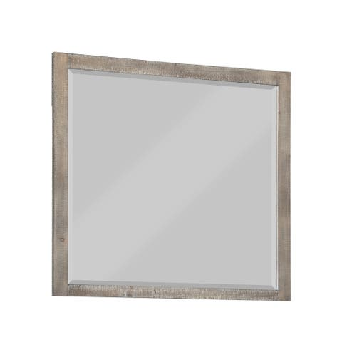 Emerald Home Briar Crest Cappuccino Grey Wire Brushed Finish Wood Frame Mirror