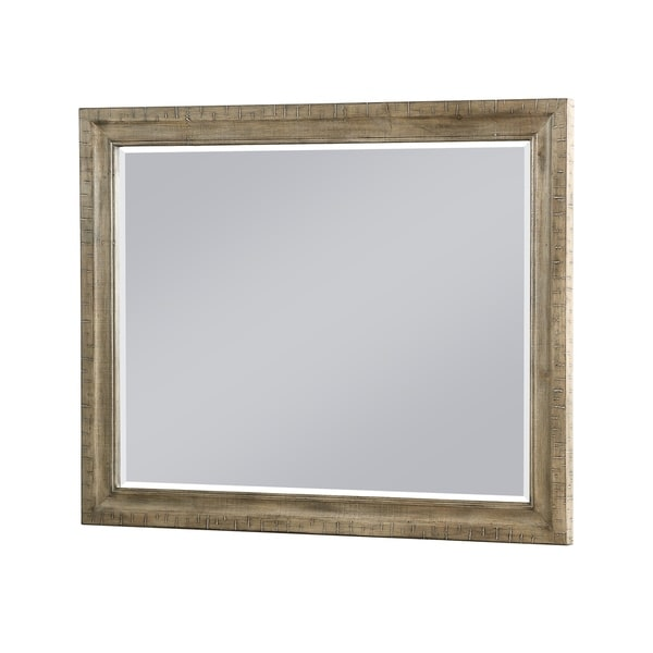 Shop Emerald Home Kennewick Honey Brown Mirror With Distressed