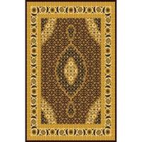 """Abstract Brown 8x11 Contemporary Area Rug - 7'10"""" x 10'6"""""""