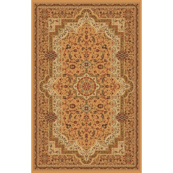 """Abstract Beige 8x11 Contemporary Area Rug - 7'10"""" x 10'6"""""""