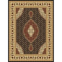 """Abstract Black 8x11 Contemporary Area Rug - 7'10"""" x 10'6"""""""