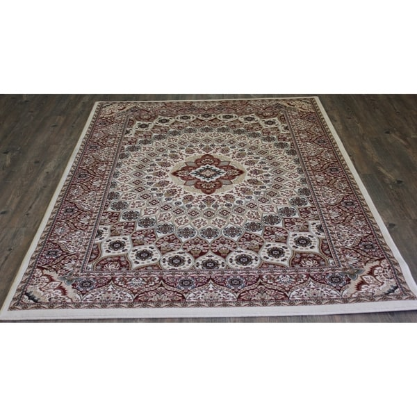 "8x11 Abstract Area Rug Cream - 7'10"" x 10'6"""