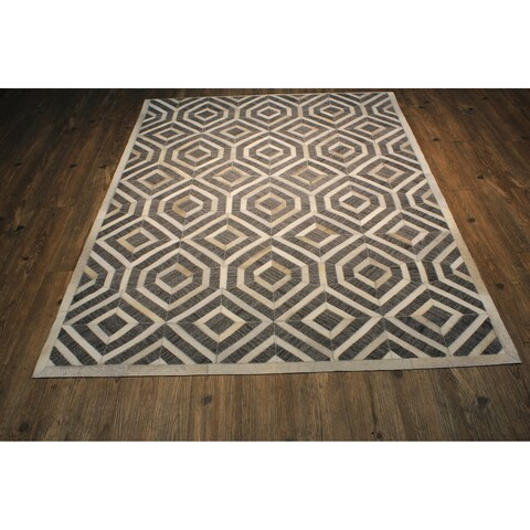 "Patchwork Cowhide Rug Grey - 7'6"" x 9'6"""