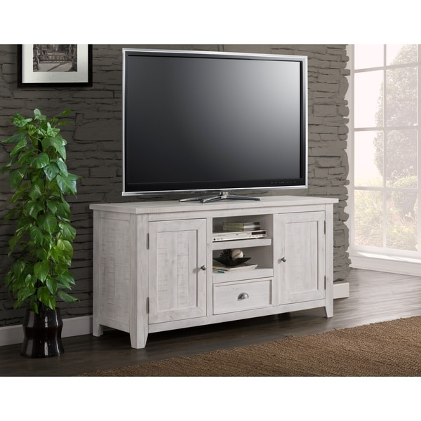 The Gray Barn Downington Solid Wood 60-inch TV Stand. Opens flyout.