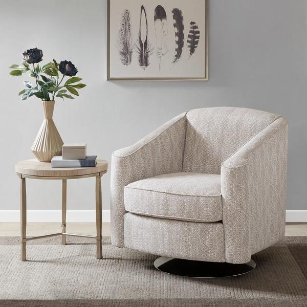 Madison Park Caroline Taupe Multi Swivel Chair
