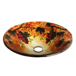 Fontaine Tuscany Round Glass Vessel Sink - Thumbnail 1