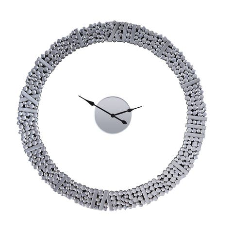 ACME Kachina Wall Clock, Mirrored and Faux Gem