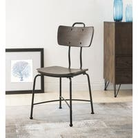 ACME Garron Side Chair (Set of 2) , Walnut and Black