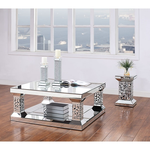 Shop ACME Kachina Coffee Table, Mirrored And Faux Gem