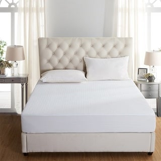 Bed Bug Dust Mite with Waterproof Mattress Protector 1-Pack - White