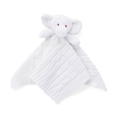 Cable Knit Elephant Security Blanket
