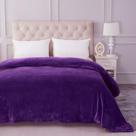 Lightweight Flannel Fleece Blanket - Plush Soft Bed Blankets