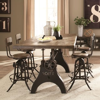 Cast Iron Vintage Milling Machine Design Counter Height Dining Set