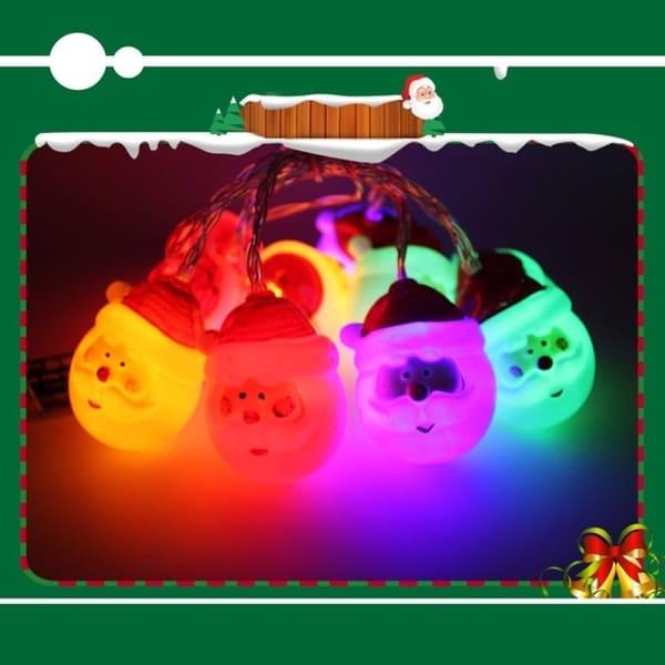 10LED Battery Powered LED String Light Christmas Oldman Head Party Event Light