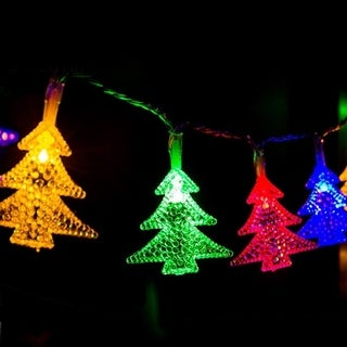 30 LED Tree-shaped Solar Powered Christmas Decoration Lamp String IP44 BZ520 - colorful