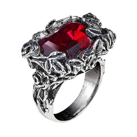 Alchemy Gothic Disgraced Former Cardinal Episcopal Blood Rose Ring - Size Q/8.5
