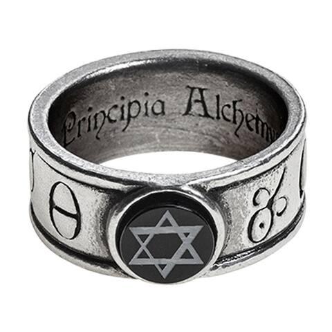Alchemy Gothic Talismanic Magic Great Work Principia Alchemystica Ring - Size Q/8.5