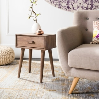 """Safavieh Lyle One Drawer Side Table -Chocolate - 15.8"""" x 11.8"""" x 20.8"""""""