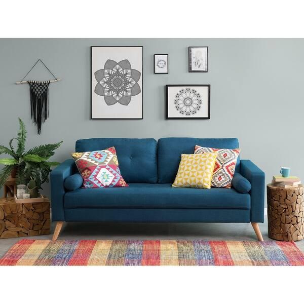 Fantastic Shop Fabric Sofa Kalmar Free Shipping Today Overstock Bralicious Painted Fabric Chair Ideas Braliciousco