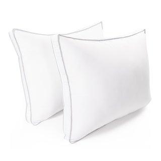 Superior Microfiber Hypoallergenic Gusset Pillow (Set of 2) - White