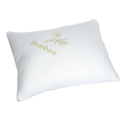 Bamboo Knitted Pillow - White