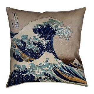 Katsushika Hokusai The Great Wave Pillow - Cotton Twill