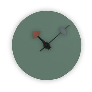 LeisureMod Manchester Ocean Green Round Silent Non-Ticking Wall Clock