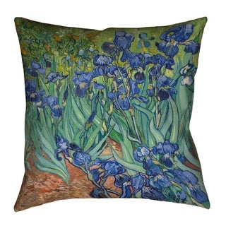 Vincent Van Gogh Irises (Pillow Cover Only) - Faux Suede