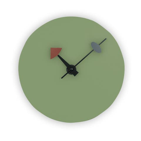 LeisureMod Manchester Modern Mint Round Silent Non-Ticking Wall Clock
