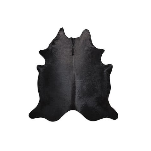 Black Beauty Natural Cowhide - 6' X 8'