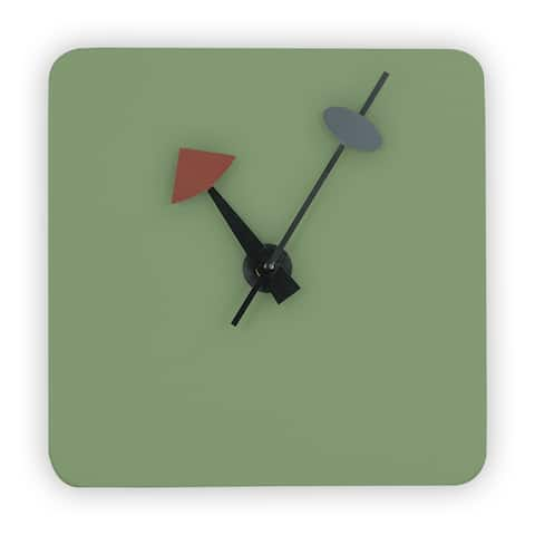 LeisureMod Manchester Modern Mint Square Silent Non-Ticking Wall Clock