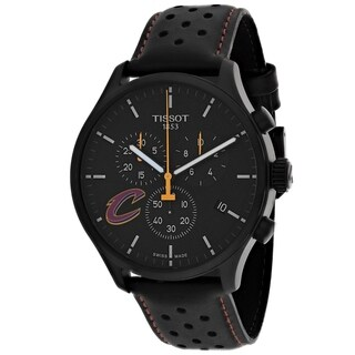 Link to Tissot Men's T1166173605101 'XL NBA Cleveland' Chronograph Black Leather Watch Similar Items in Men's Watches