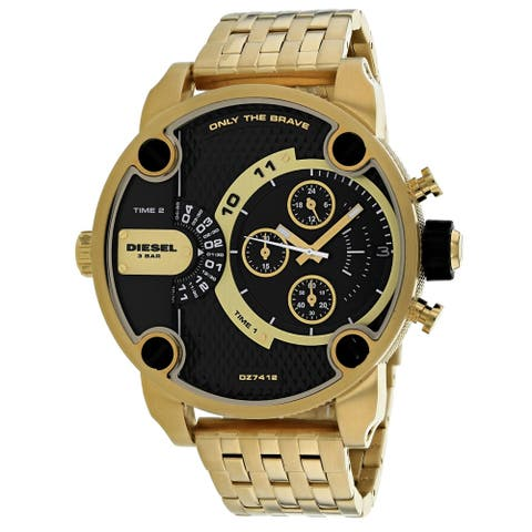 Diesel Men's DZ7412 Little Daddy Gold Stainless Steel with Black Dial - 1 Size