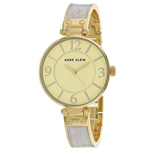 Anne Klein Women's AK-2690IVGB 'Classic' Two-Tone Stainless Steel Watch