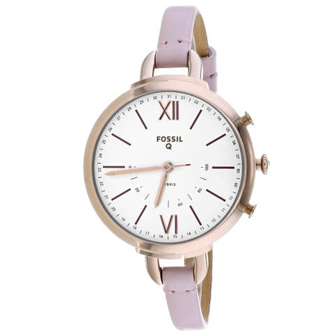 Fossil Women's FTW5023 'Annette' Pink Leather Watch