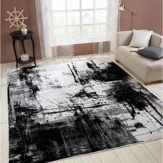 Link to Strick & Bolton Intveld Black/ Zinc Area Rug Similar Items in Transitional Rugs