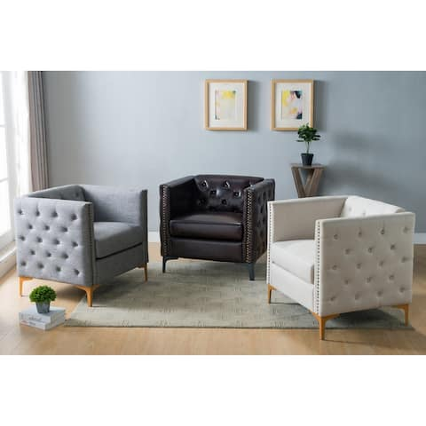 Copper Grove Batanovtsi Tufted Nailhead Trim Accent Chair