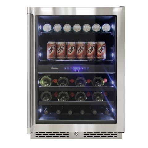 Vinotemp 24-Inch Outdoor Dual-Zone Wine & Beverage Cooler