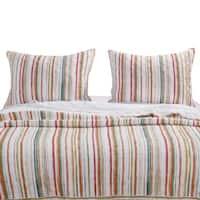 Greenland Home Fashions Sunset Stripe Pillow Sham Set (Set of 2 Shams)