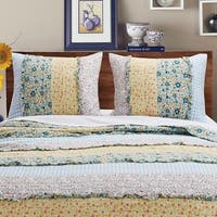 Barefoot Bungalow Ditsy Ruffle Pillow Sham Set (Set of 2 Shams)