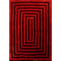 Contemporary 5x7 Rug Red - 5' x 7'