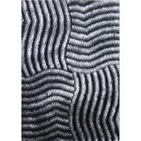 Red and Black Contemporary 5x7 Rug - 5' x 7'