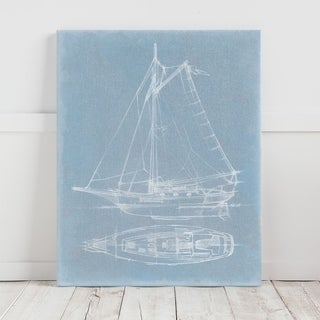 Mercana Yacht Sketches IV (MC) (30 X 38) Made to Order Canvas Art