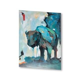 Mercana Water Color Buffalo (30 X 40) Made to Order Canvas Art