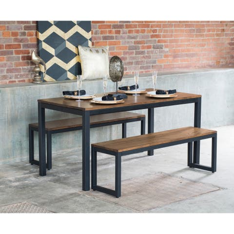 Elan Furniture Loft 3 Piece Bench Dining Set
