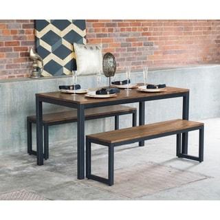Elan Furniture Loft 3 Piece Bench Dining Set