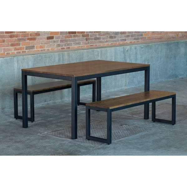 Brilliant Shop Elan Furniture Loft 3 Piece Bench Dining Set Free Gmtry Best Dining Table And Chair Ideas Images Gmtryco