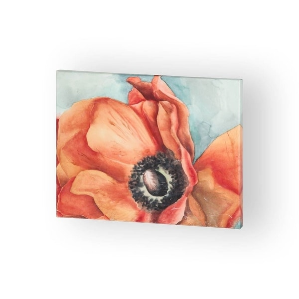 Mercana Water Color Poppy 1 ( 30 x 24 ) Made to Order Canvas Art