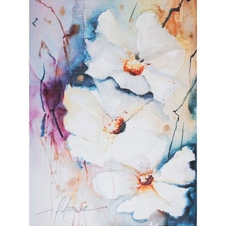 Mercana Blooms Aquas I (30 X 40) Made to Order Canvas Art